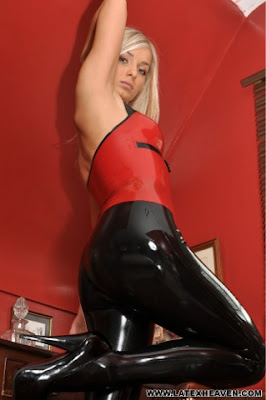 Perfect ass in latex