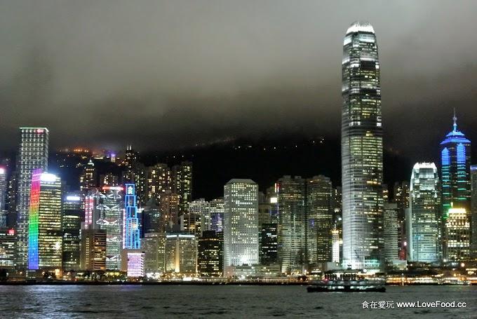 香港尖東【尖沙咀海濱花園】看維港夜景