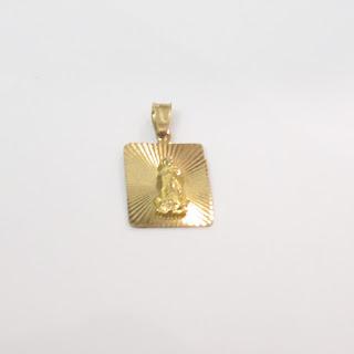 10K Gold Virgin of Guadalupe Pendant