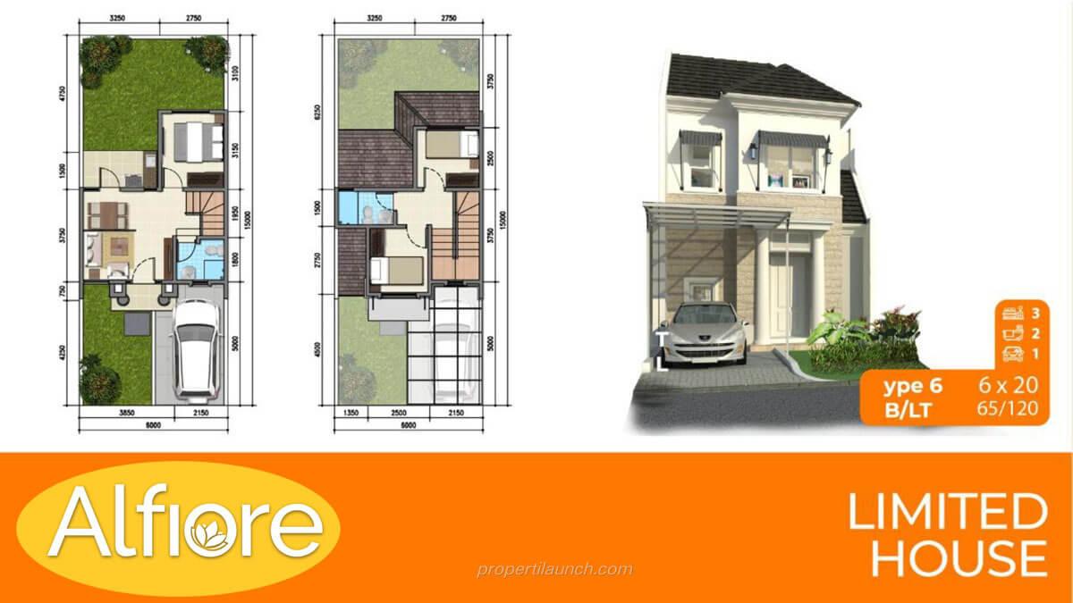 Type 6 Rumah Banjar Wijaya Alfiore