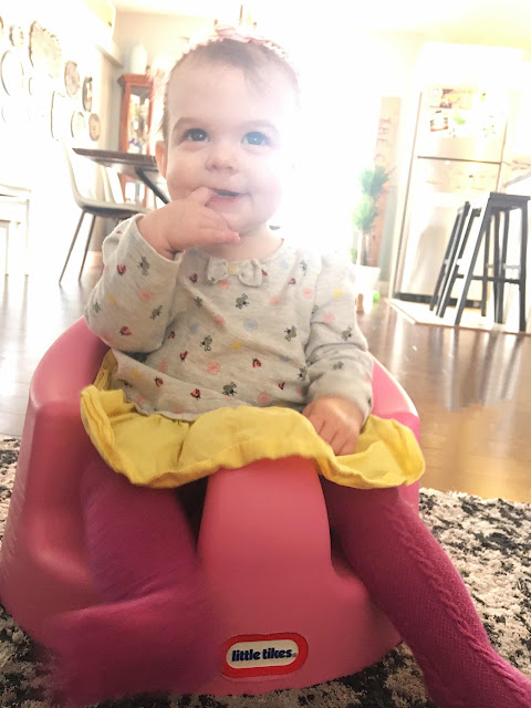Little tikes my first seat, teaching baby to crawl