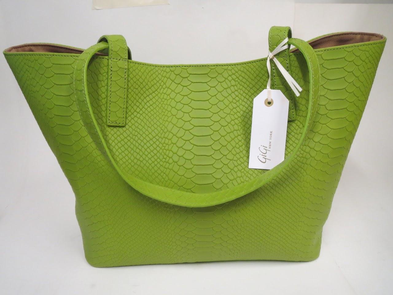 Gigi New York Faux Python Bag