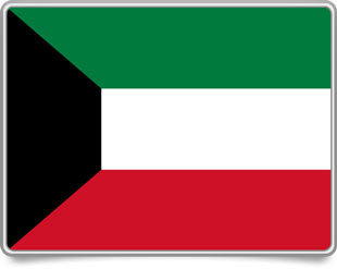 Kuwaiti framed flag icons with box shadow