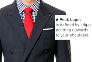 peak lapel for suit