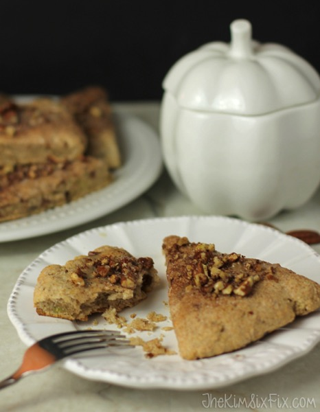 Pecan cinnamon sweet potato scones