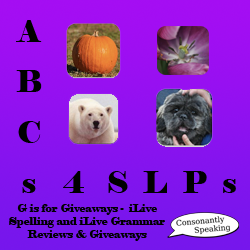 ABCs 4 SLPs: G is for Giveaways - iLiveSpelling and iLiveGrammar Application Reviews and Giveaways image