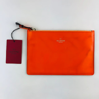 """CLEARANCE"" Valentino Medium Orange Pouch"