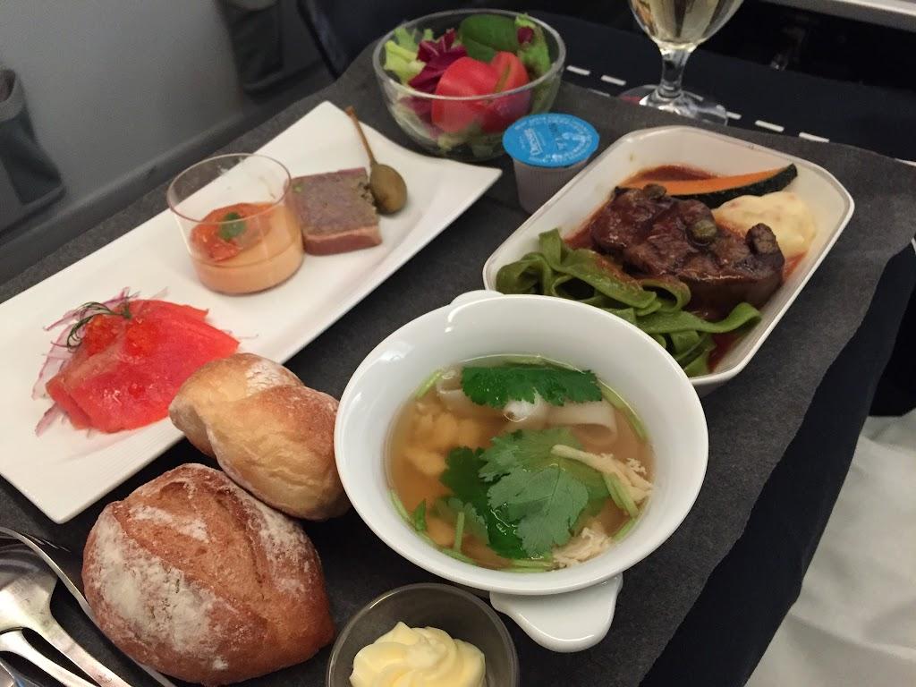 2016年04月: JAL735(東京・成田=香港) ビジネスクラス 機内食
