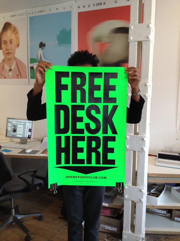 *FREE DESK HERE免費工作室辦公桌:在這裡! 9