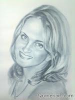 """Портрет черно-белый, выполнен маслом по бумаге в технике """"сухая кисть"""" по белой бумаге, размер А3 (30Х40 см)"""