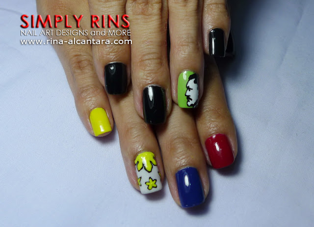 Jose Rizal nail art design 03