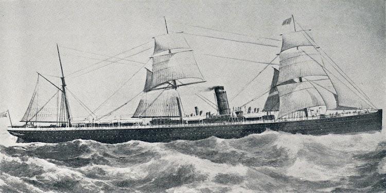 El GALLIA. Ultimo vapor de hierro de la Cunard. Antes B & NARMSP. Co. Ltd.tif