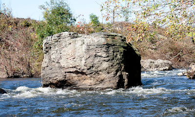 Bottom of rapids below waterfall and old industrial area above Tuxedo. Ramapo River 10/21/2011