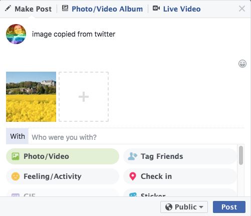 Chrome issue with copy image and paste to FB or FBMessenger