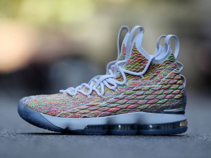 a94375c361 Closer Look at 'Fruity Pebbles' LeBron 15 That's Due on Easter ...