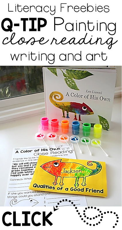 Grab these freebies and up  your classroom literacy with close reading- use the book A Color of His Own and these freebies