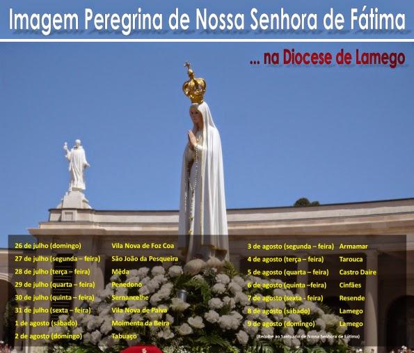 Imagem Peregrina de Nossa Senhora de Fátima em Lamego