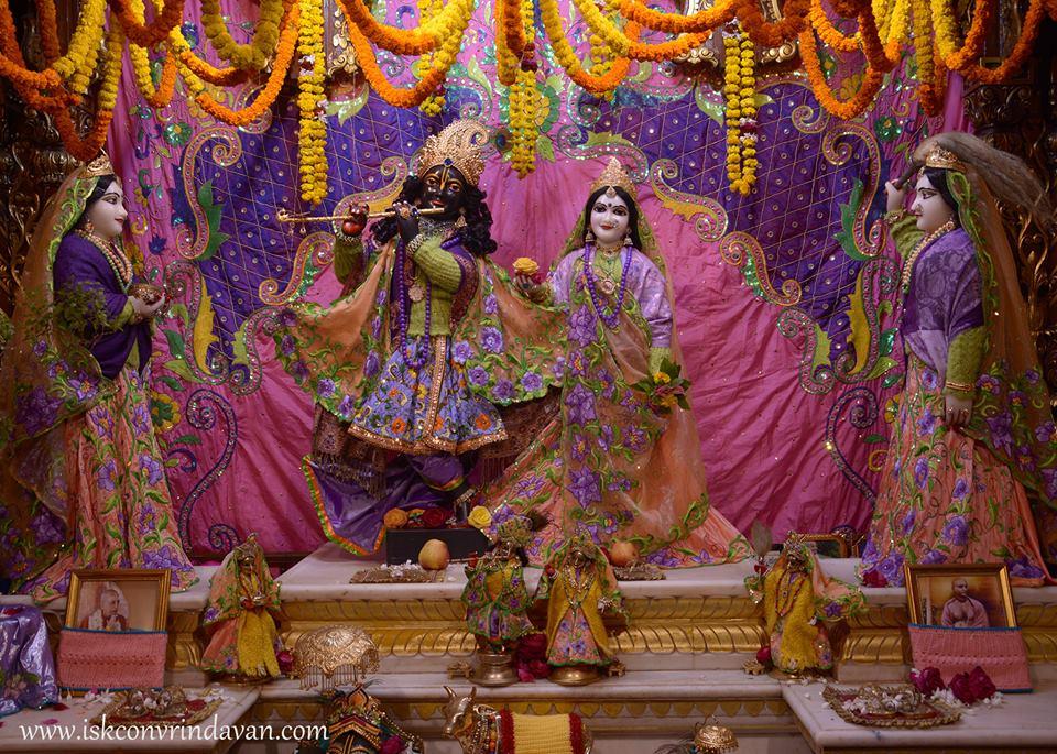ISKCON Vrindavan Mangla Deity Darshan 15 Jan 2016  (2)