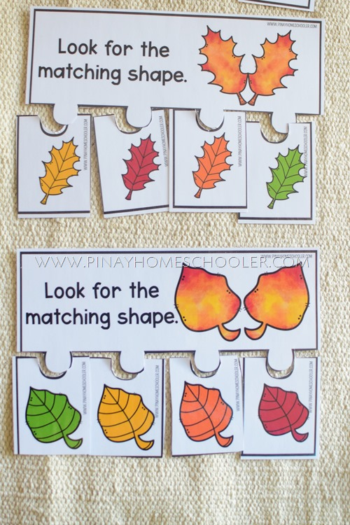 AUTUMN THEMED LEAF MATCHING