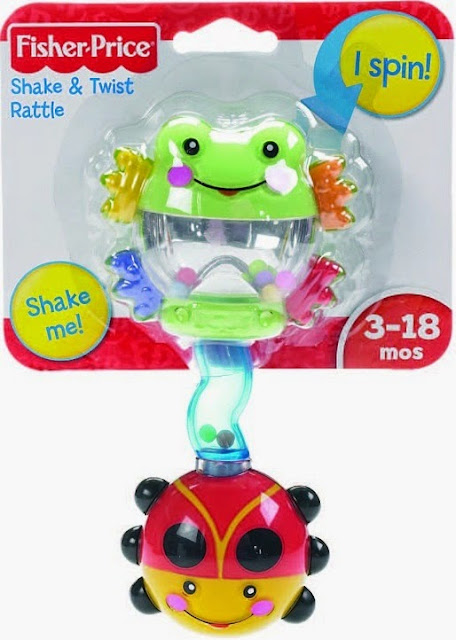 Lục lạc bọ rùa Fisher Price Shake & Twist Rattle
