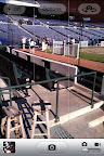 The view of the seats behind the plate. I was actually trying to capture the cracked glass from within the phone, which, duh, isn't how the camera works.