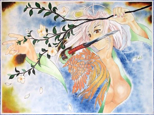 Dibujo con pinturas acrilicas