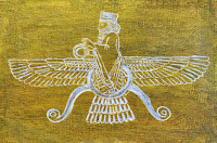 Babylon Sumerian Anunnaki Flying Gods golden