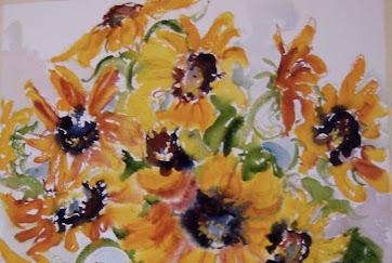 Sunflowers and Pear.jpg