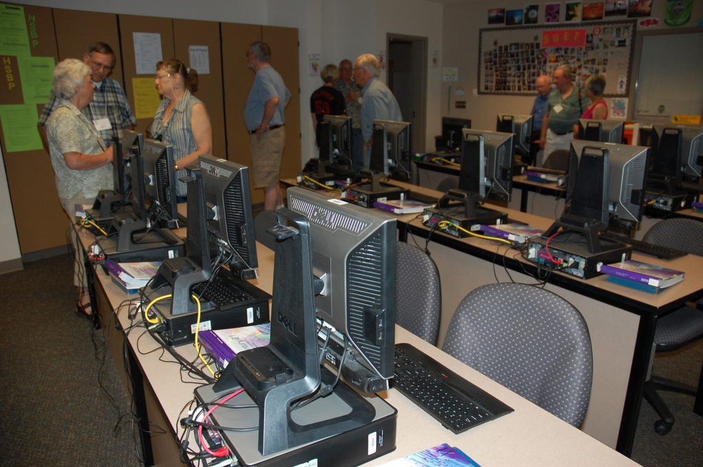 Classroom for Typing Class in Scott Hall, Richland High School
