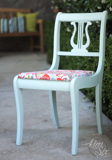 Light Blue Chalk Painted Chair