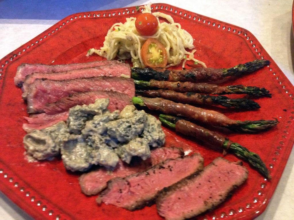 Montana Waygu Steaks with Asparagus and local Morels