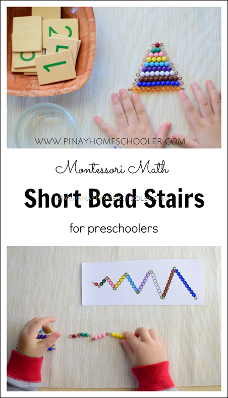 The Montessori Short Bead Stairs: Learning About Quantity