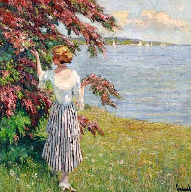Edward Cucuel - Blossoming Tree