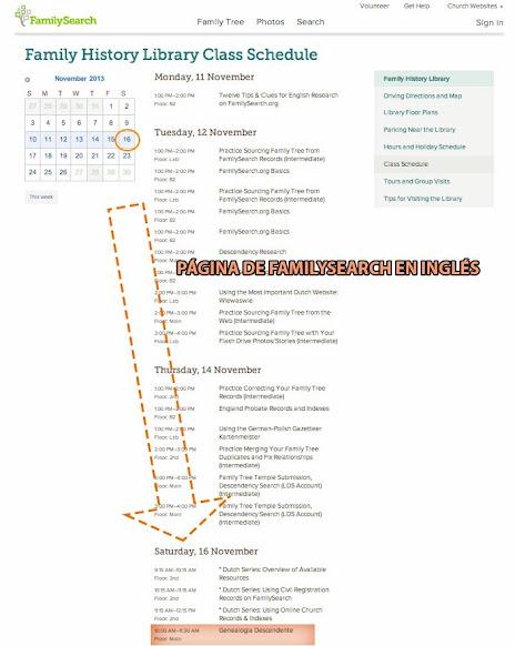 Agenda Clases Biblioteca Historia Familiar SLC