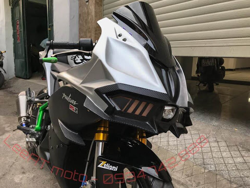 bajaj pulsar RS 200 modified to Kawasaki Ninja H2R