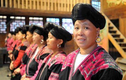 mujeres cabello amarrado etnia yao