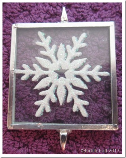 memory glass microscope slide snowflake tree decoration