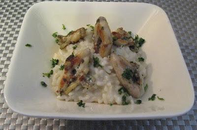 Cuisses de grenouilles et risotto au parmesan