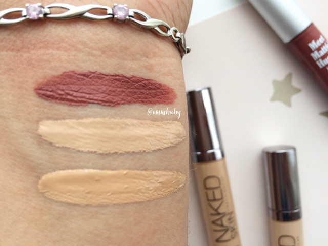 NC40 swatches urban decay naked skin concealer NC40 Swatch thebalm meet matte hughes trustworthy