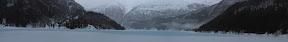 """""""A GAUCHE, A DROITE, RIEN.""""?        ?Lac d'Osteroy en hiver (Sud-Ouest de la Norvège)"""