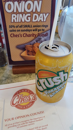 Pineapple crush at Ches's, St. John's, Newfoundland