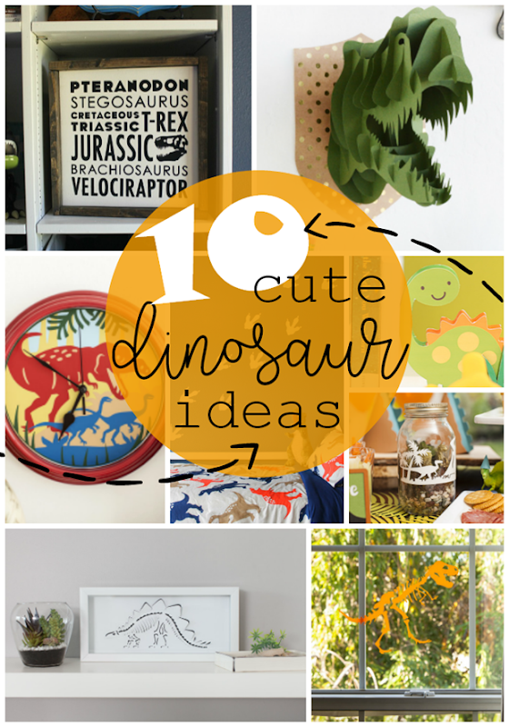 10 Cute Dinosaur Ideas with Cricut #cricut #cricutmade #cricutmaker
