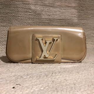 Louis Vuitton Sobe Patent Leather Clutch