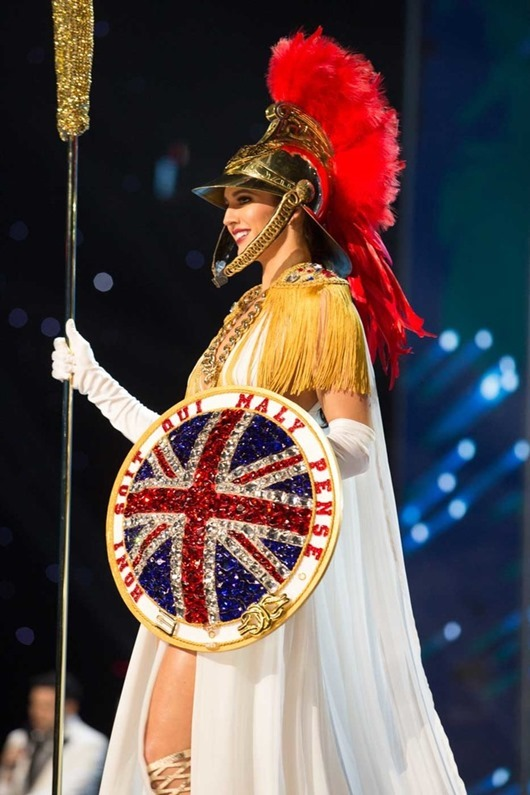 Jaime-Lee Faulkner, Miss Great Britain 2016 debuts her National Costume on stage at the Mall of Asia Arena on Thursday, January 26, 2017.  The contestants have been touring, filming, rehearsing and preparing to compete for the Miss Universe crown in the Philippines.  Tune in to the FOX telecast at 7:00 PM ET live/PT tape-delayed on Sunday, January 29, live from the Philippines to see who will become Miss Universe. HO/The Miss Universe Organization