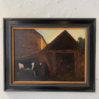 Signed Oil in Frame