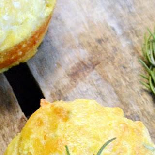 Rosemary Cheddar Cornbread Muffins