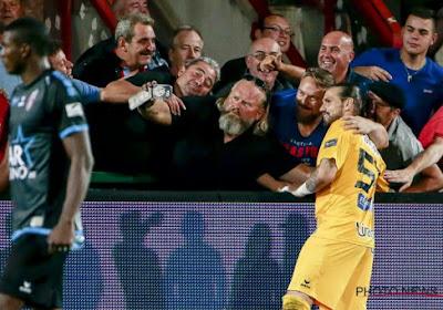 Logan Bailly dans les travées de la Ghelamco avec les supporters mouscronnois ?
