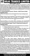 Delhi Transco Limited Deputation Jobs 2016