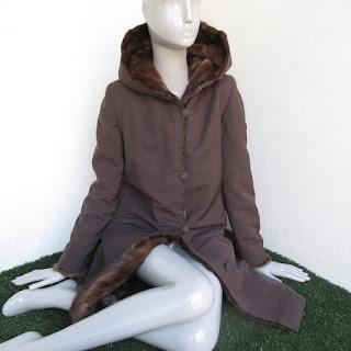 Mink Fur-Lined Hooded Coat