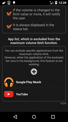 Volume Limiter (Limit & Lock) - screenshot